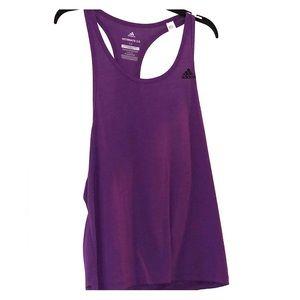 Medium purple adidas climalite  workout shirt